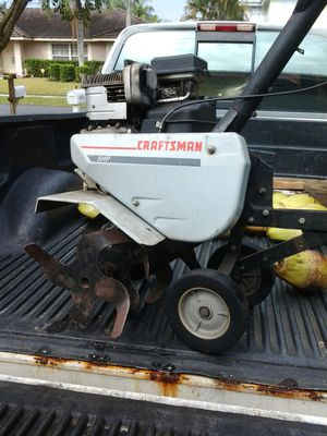 """Craftsman 5hp frontline tiller 24 """" wide gas only 4 cycle engine runs great! for Sale in Pompano Beach, FL"""