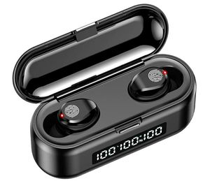 Wireless Earbuds Bluetooth 5.0 Headphones with Digital LED Display Charging Case Touch Control Built in Mic Headset Waterproof Deep Bass for Sport... for Sale in Detroit, MI