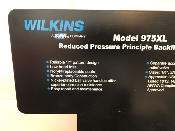 Wilkins model 975 XL backflow preventer cutaway for Sale in Temecula, CA -  OfferUp