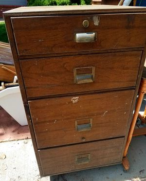 Free. Vintage Metal industrial file cabinet for Sale in Denver, CO