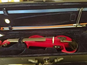 Rockstar Red Electric Violin WITH amplifier, and headphones! for Sale in Whittier, CA