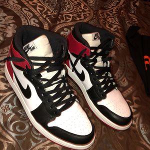 Jordan 1 retro high OG black toe for Sale in Dundalk, MD