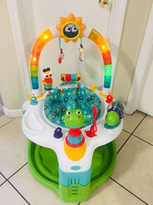 Bright Starts Laugh & Lights Activity Saucer - Green/Blue for Sale in Sunrise, FL