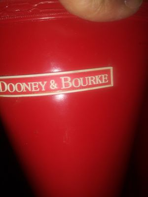 Dooney & bourke red rain boots for Sale in Greensboro, NC