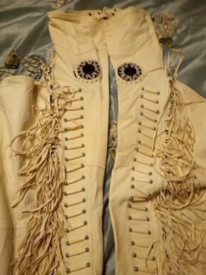 Ladies Fringe Indian motorcycle chaps for Sale in California, MD