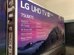 "75"" LG 75UM7570 4K UHD HDR LED SMART TV 2160P (FREE DELIVERY) for Sale in Lakewood, WA"