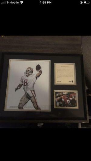 Steve young San Francisco 49ers football Memorabilia wall art for Sale in Stanwood, WA