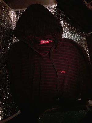 Van's Hooded Sweatshirt -Red Stripes for Sale in Anacortes, WA