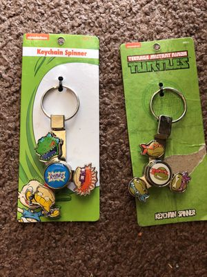 Keychain spinners ninja turtles and Rugrats for Sale in San Antonio, TX