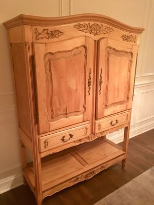 Antique Provence Armoir Bar - Wood Cabinet for Sale in Chicago, IL