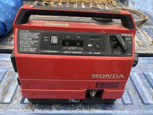 HONDA EX650 GENERATOR for Sale in Port Orchard, WA