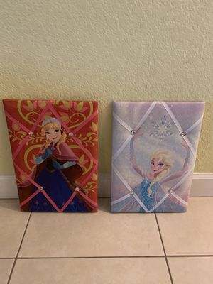Disney frozen princess Elsa and Anna picture frame for Sale in Port St. Lucie, FL