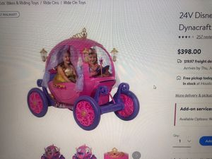 Disney Princess Carriage 24 volt for Sale in Houston, TX