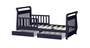 Toddler bed with drawers navy blue for Sale in Fort Worth, TX