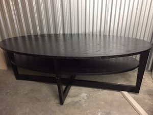 Black two tier coffee table for Sale in Santa Monica, CA