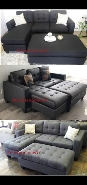 sectional sofa with ottoman convertible sleeper couch for Sale in Buena Park, CA