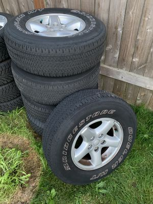 2002 Jeep Wrangler TJ wheels and tires 5 x 4.5 for Sale in Renton, WA