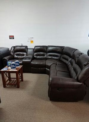 3-pcs Reclining Sectional in Bonded Leather [ONLY $50 DOWN AND 90 DAYS TO PAY SAME AS CASH] for Sale in Irving, TX
