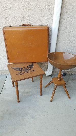 Antique suitcase side table vintage furniture for Sale in Santa Fe Springs, CA