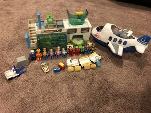Toy Airport with airplane and action figures for Sale in Clarksburg, MD