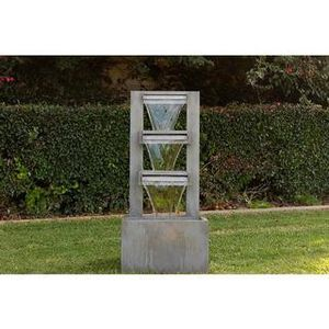 ALPINE CORPORATION 4-TIER MODERN INDUSTRIAL METAL FOUNTAIN - INDOOR/OUTDOOR WATERFALL FOR GARDEN, PATIO, DECK, PORCH - YARD AND HOME ART DECOR for Sale in North Las Vegas, NV