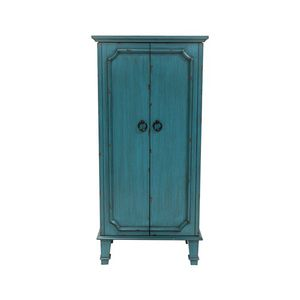 Brand New Financing Available. Vintage Turquoise Hand Painted Jewelry Armoire with Antique Drawer Pulls for Sale in High Point, NC