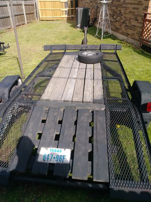 Homemade trailer 12 ft long 69 inches wide used for moving small cars ATVs and so forth for $450 no title lights don't work for Sale in Arlington, TX