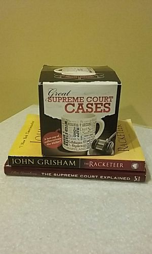 Great Supreme Court Cases Mug (new) and two books (used) for Sale in Grosse Pointe Park, MI