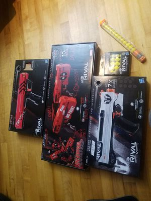 Rival nerf and dead pool guns in mint condition 75 for all for Sale in Houston, TX