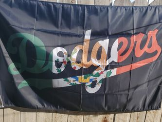 Dodgers Mexico Flag Size 3ftx5ft Single Sided for Sale in Moreno Valley,  CA