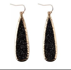 BLACK RED or GOLD SPARKLY CRYSTAL RHINESTONE DANGLE DROP EARRINGS for Sale in Macomb, MI