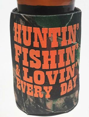 Hunting fishing can camouflage koozie for Sale in York, PA