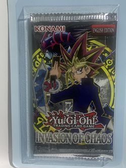 Yu-Gi-Oh! Invasion Of Chaos Booster Blister Pack! Genuine, Factory Sealed! IOC for Sale in Los Angeles,  CA
