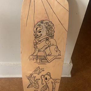 longboard handmade , japanese dragon and coy fish for Sale in Rochester, NY