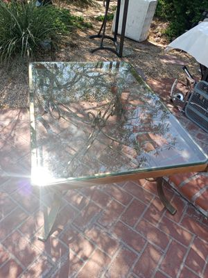 Glass and brass coffee table. for Sale in Henderson, NV