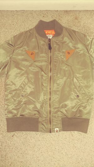 A Bathing Ape Green Bomber Jacket Large for Sale in Alexandria, VA