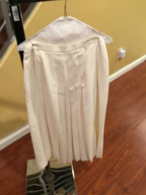 Designer White skirt suit by Lord & Taylor / size 12 a few removable stains for Sale in Richmond, CA