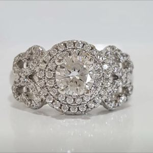 Sterling silver plated lab created diamonds ring for Sale in Silver Spring, MD