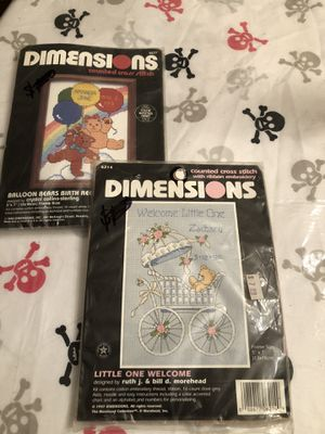 2 brand new needlepoint baby announcements for Sale in Mechanicsburg, PA