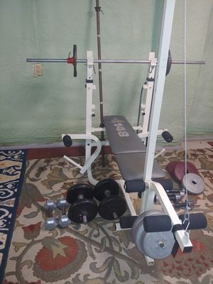 Lifting weights bench and pull machine for Sale in Peoria, IL