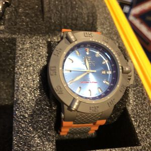 Invicta Blue Face Orange Band Watch for Sale in Las Vegas, NV