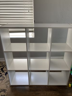 White 9 cubby storage. $35 obo for Sale in Bakersfield, CA