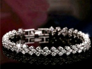 $8 new 7.5 in silver plated CZ bracelet for Sale in Ballwin, MO