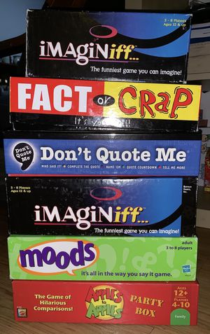 5 Board Games $ 75 for Sale in Milpitas, CA