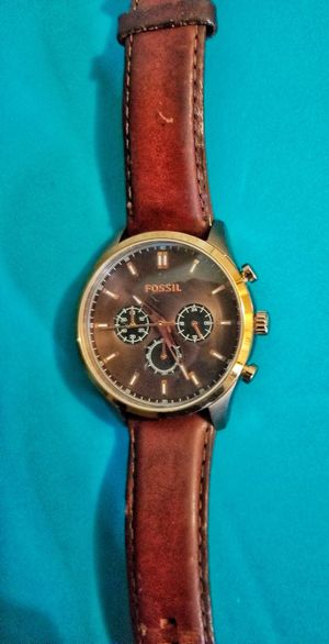 Authentic fossil watch Fossil watch leather band great shape! for Sale in Salisbury, NC