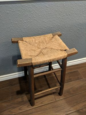 Swedish Style Wooden Wicker Stool Seat Chair for Sale in Houston, TX