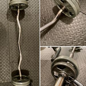 Olympic Curl Bar With 30 lbs Olympic Weight Plates for Sale in Hacienda Heights, CA