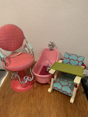 Doll items (all 3) for $15 for Sale in Whittier, CA