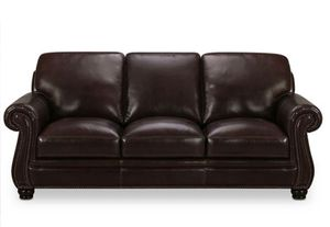 Leather Sofa and Love Seat Set- Martha Stuart Collection for Sale in Walnut Creek, CA
