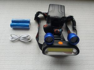 2x XM-L T6 LED COB Rechargeable 18650 Headlamp Head Light Torch Lamp for Sale in San Diego, CA